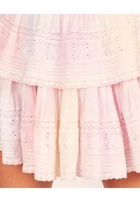 LOVE SHACK FANCY - Sukienka mini Gwen. Typ kołnierza: kołnierz z falbankami. Kolor: biały. Materiał: koronka. Wzór: aplikacja, koronka. Sezon: lato. Typ sukienki: rozkloszowane. Styl: wakacyjny. Długość: mini