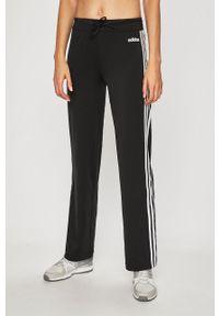 Czarne spodnie dresowe Adidas z podwyższonym stanem
