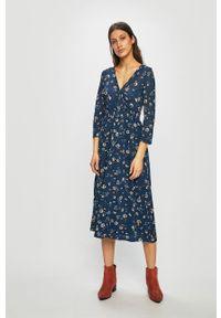 Niebieska sukienka only casualowa, na co dzień, prosta