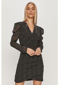 Czarna sukienka AllSaints mini, dopasowana