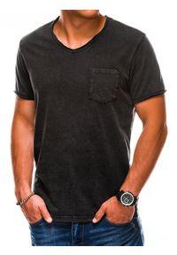 Czarny t-shirt Ombre Clothing