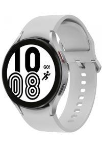 SAMSUNG - Samsung Galaxy Watch4 44mm Silver. Rodzaj zegarka: smartwatch. Kolor: srebrny. Styl: militarny