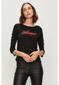 Czarny sweter Armani Exchange długi, na co dzień