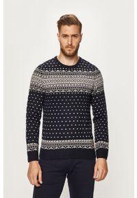 Niebieski sweter Blend na co dzień, casualowy