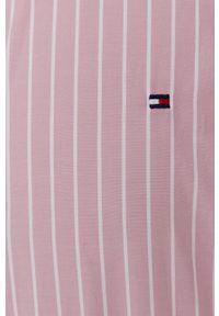 TOMMY HILFIGER - Tommy Hilfiger - Koszula bawełniana. Okazja: na co dzień. Kolor: różowy. Materiał: bawełna. Długość rękawa: długi rękaw. Długość: długie. Styl: casual