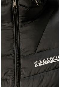 Czarna kurtka Napapijri z kapturem, casualowa, na co dzień