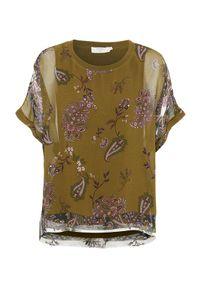 Brązowa bluzka Cream z okrągłym kołnierzem