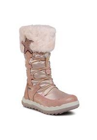 Primigi - Śniegowce PRIMIGI - GORE-TEX 6381411 S Carn. Kolor: różowy. Materiał: skóra, zamsz, materiał