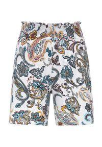Cellbes Wzorzyste szorty dżersejowe biały wzór paisley female biały 46/48. Kolor: biały. Materiał: jersey. Wzór: paisley