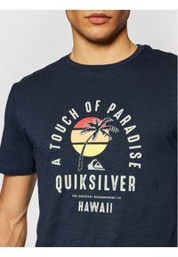Quiksilver T-Shirt Quiet Hour EQYZT06387 Granatowy Regular Fit. Kolor: niebieski