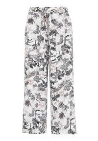 Cellbes Spodnie typu culotte z szerokimi nogawkami we wzory female ze wzorem 58/60. Materiał: tkanina, włókno, wiskoza. Styl: elegancki