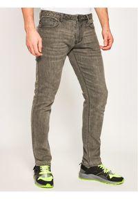 Emporio Armani Jeansy 3H1J06 1DUBZ 0006 Szary Slim Fit. Kolor: szary. Materiał: jeans, bawełna, poliester, elastan