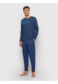 BOSS - Boss Piżama Relax Long Set 50443448 Granatowy Regular Fit. Kolor: niebieski