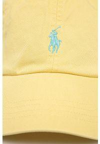 Żółta czapka z daszkiem Polo Ralph Lauren z aplikacjami