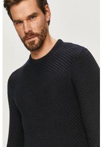 Only & Sons - Sweter. Okazja: na co dzień. Kolor: niebieski. Długość rękawa: długi rękaw. Długość: długie. Styl: casual #4