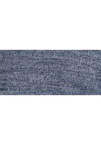 TOP SECRET - Sweter długi rękaw męski. Okazja: na co dzień. Typ kołnierza: dekolt w serek. Kolor: niebieski. Długość: długie. Wzór: ze splotem, paski. Materiał: jeans, dzianina. Długość rękawa: długi rękaw. Sezon: wiosna. Styl: klasyczny, casual