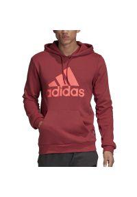 Adidas - ADIDAS BADGE OF SPORT FLEECE HOODIE > FT8414. Typ kołnierza: kaptur. Materiał: poliester, materiał, bawełna. Długość rękawa: długi rękaw. Długość: długie. Wzór: aplikacja. Styl: sportowy