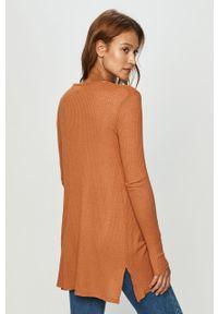 Pomarańczowy sweter rozpinany Haily's