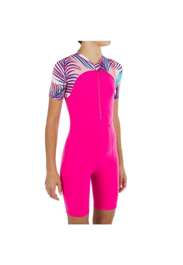 NABAIJI - Krótki Kombinezon Pływacki Dla Dzieci. Kolor: różowy. Materiał: materiał, poliester