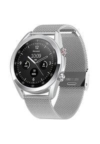 Wotchi Smartwatch W24S - Silver Stainless Steel. Rodzaj zegarka: smartwatch. Styl: casual