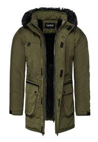 Brązowa kurtka zimowa Recea bez kaptura, z krótkim rękawem