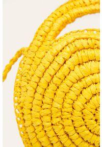 Żółta torba plażowa ANSWEAR na ramię, mała