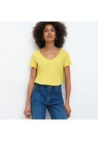 Mohito - Ladies` t-shirt - Żółty. Kolor: żółty