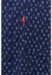 Niebieska koszula Levi's® na spotkanie biznesowe, biznesowa, z klasycznym kołnierzykiem