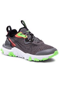 Nike - Buty NIKE - React Vision Ww (Gs) CV8965-001 Iron Grey/Black/White. Okazja: na uczelnię, na spacer. Kolor: szary. Materiał: skóra, materiał. Szerokość cholewki: normalna