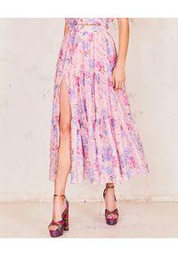 LOVE SHACK FANCY - Spódnica maxi w kwiaty. Kolor: różowy, wielokolorowy, fioletowy. Materiał: materiał. Długość: długie. Wzór: kwiaty. Sezon: lato