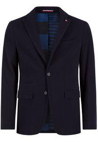 Tommy Hilfiger Tailored Marynarka Jersey Flex Blazer TT0TT06690 Granatowy Slim Fit. Kolor: niebieski. Materiał: jersey