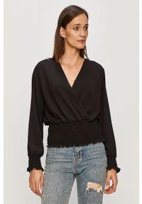 Czarna bluzka Haily's z długim rękawem, długa, na co dzień, elegancka