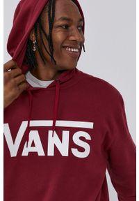 Vans - Bluza bawełniana. Kolor: czerwony. Materiał: bawełna
