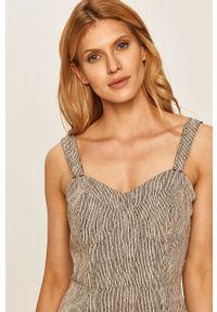 Szara sukienka Volcom na ramiączkach, casualowa