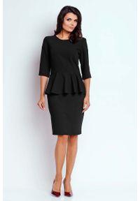 Czarna sukienka wizytowa Nommo wizytowa, mini