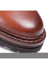Brązowe buty zimowe Marc O'Polo klasyczne, z cholewką