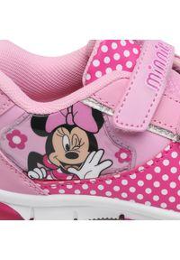 Różowe półbuty Mickey&Friends na rzepy, z cholewką