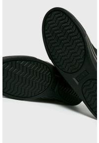 Czarne sneakersy Polo Ralph Lauren na sznurówki, z cholewką