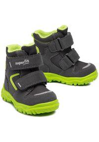 Zielone buty zimowe Superfit z cholewką, na spacer