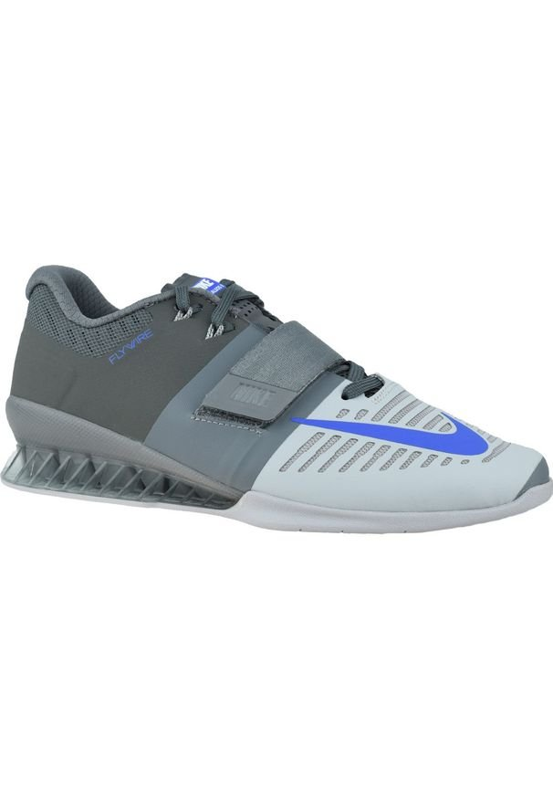 Szare buty treningowe Nike z cholewką, w kolorowe wzory