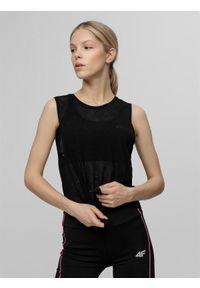 Czarna koszulka sportowa 4f długa, do biegania