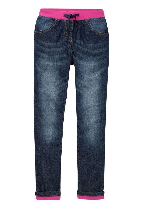 Niebieskie jeansy bonprix eleganckie, długie