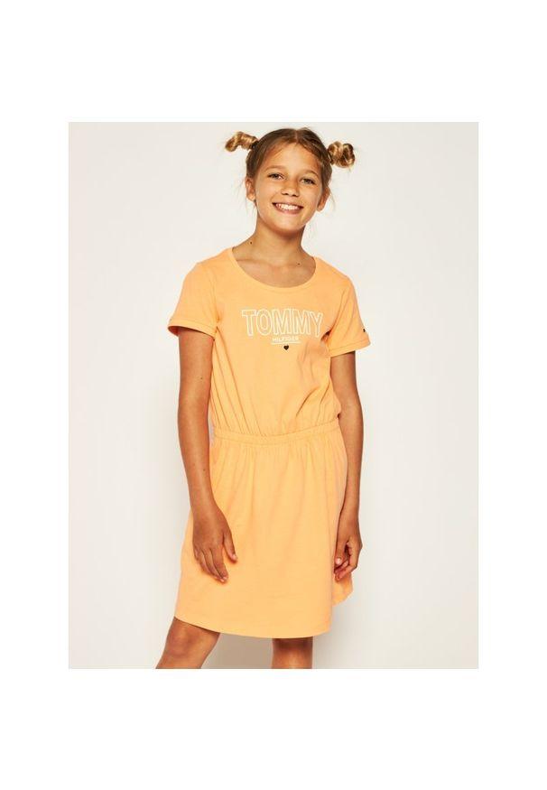Pomarańczowa sukienka TOMMY HILFIGER casualowa, prosta