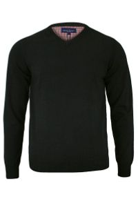 Czarny sweter Adriano Guinari na co dzień, elegancki