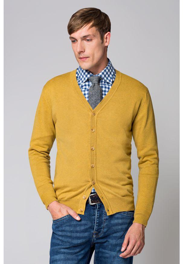 Żółty sweter Lancerto vintage, w kolorowe wzory