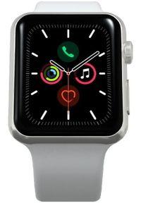 Apple Refurbished smartwatch Watch Series 5, 44mm Silver Aluminium Case with White Sport Band. Rodzaj zegarka: smartwatch. Kolor: srebrny, biały, wielokolorowy. Styl: sportowy