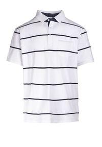 Biała koszulka polo Born2be