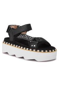 Czarne sandały Mou