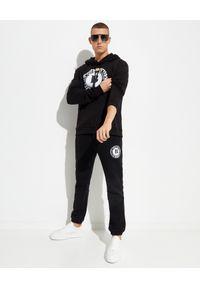 BUSCEMI - Czarna bawełniana bluza z kapturem. Typ kołnierza: kaptur. Kolor: czarny. Materiał: bawełna. Długość rękawa: długi rękaw. Długość: długie. Wzór: aplikacja, nadruk
