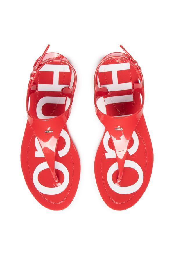 Czerwone sandały Hugo
